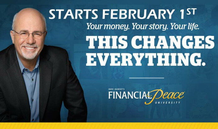 Financial Peace Classes - Wednesdays 6:00 PM