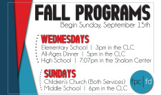 2019 Fall Programs